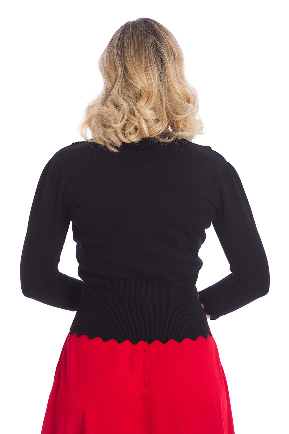Banned Bunny Hop Knit Cardigan In Black
