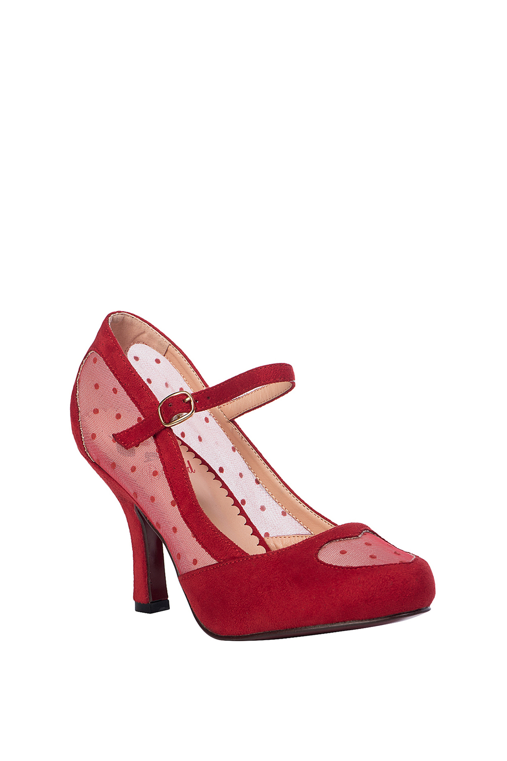 Banned Retro 50s Elegant Spots Pumps In Red