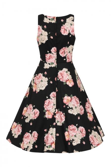 Banned Retro Classic Black 50s English Rose Swing Dress