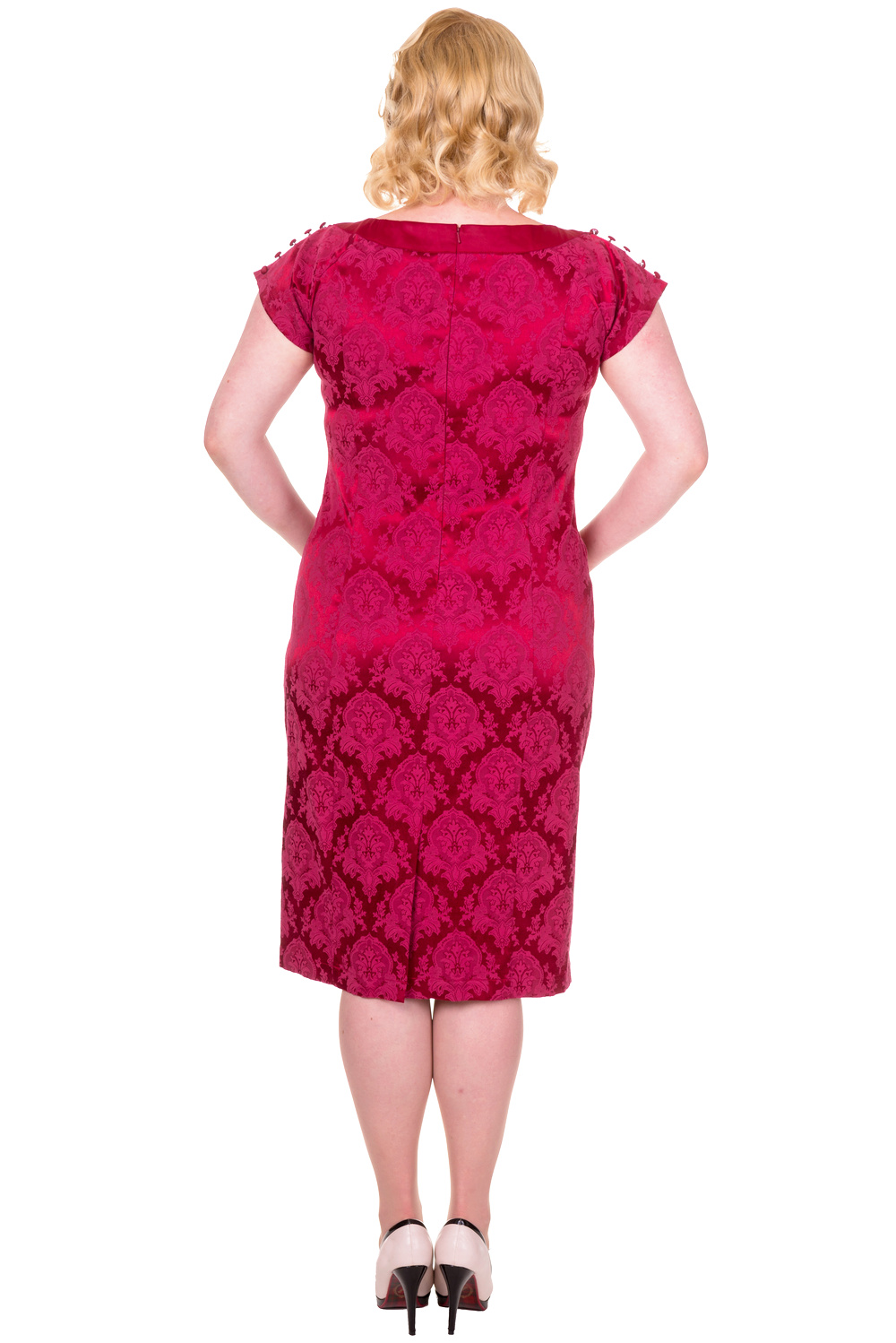 Banned Limitless Burgundy 1940s Dress Plus Size