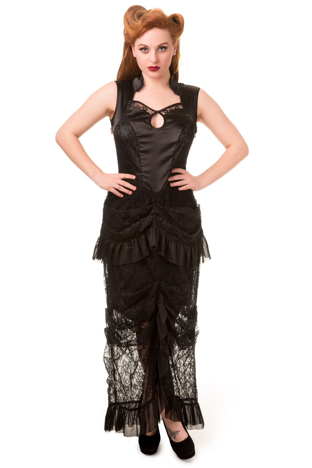 Banned Nevermind Gothic Maxi Dress | Banned Gothic Plus Size Prom ...