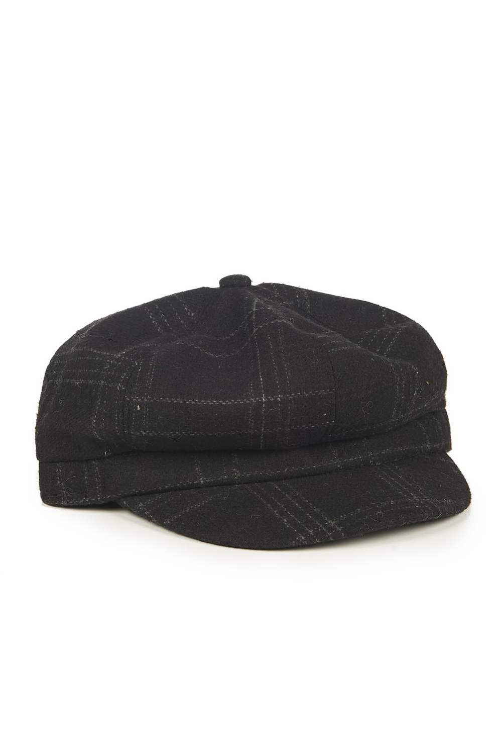 Banned Apparel Lady Harris Baker News Boy Black Tartan Cap