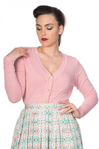 Banned Retro 50s June Pink Cardigan