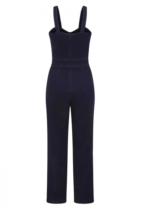 Banned Retro 50s Play Day Denim Jumpsuit