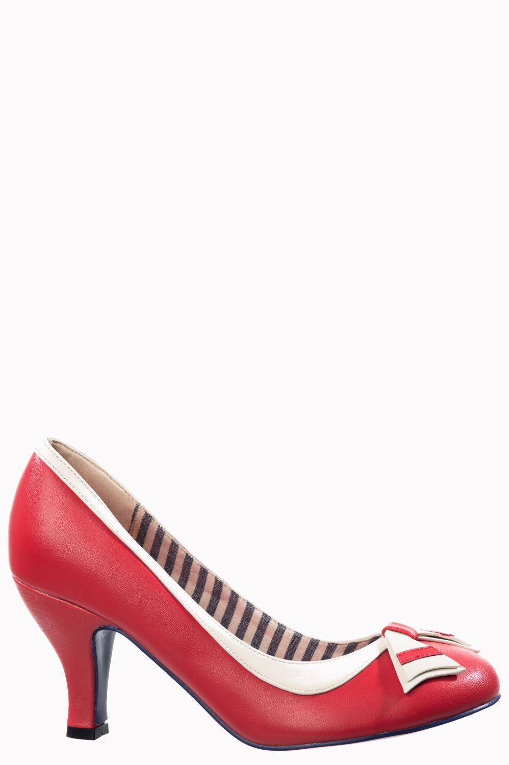 Banned Retro Sparkle Falls Nautical Vegan Heels In Red
