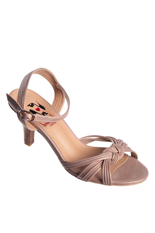 Banned Retro Aneko 40s Nude Twist Bow Sandals