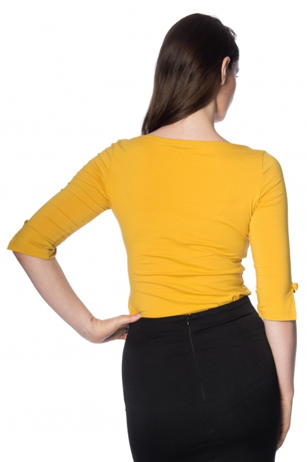 Banned Retro 50s Oonagh Mustard Top