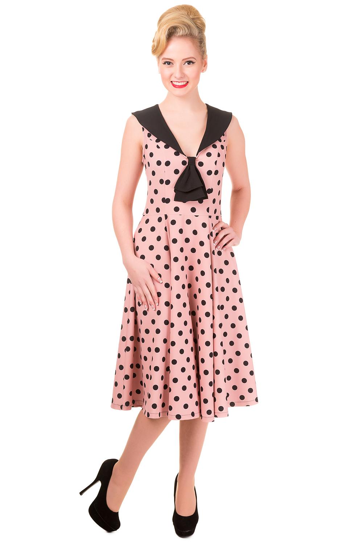 Banned Vintage 1940s Polka Dot Rival Dress