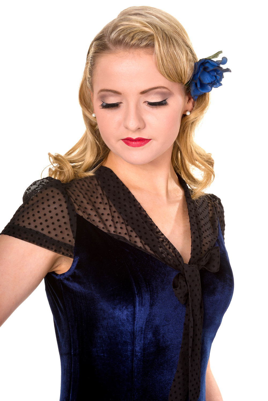 Banned Blue Sensation Midi Flared Dress