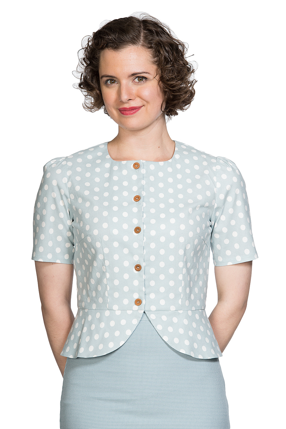 Banned Retro 60s Spotlight Blouse In Mint