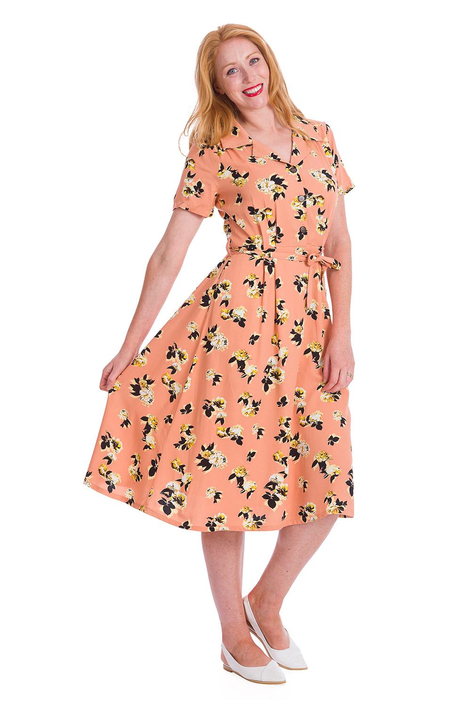 Banned Sweet Tropicana 40s Dress In Orange