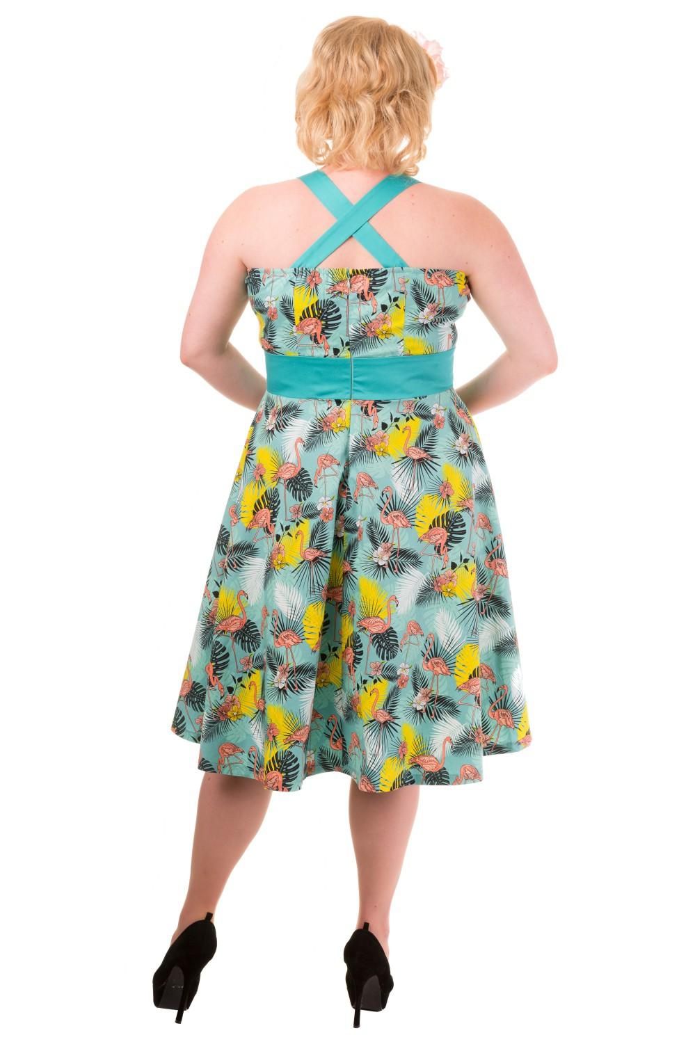 Banned Wanderlust Tropical Flamingo Rockabilly Dress