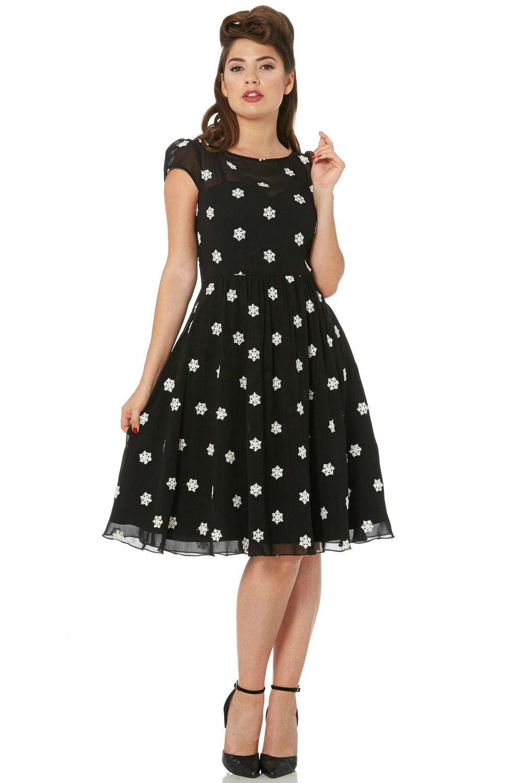 Voodoo Vixen Bernadette Snowflake Dress