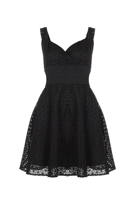 oodoo Vixen Billie Blush Black Dress