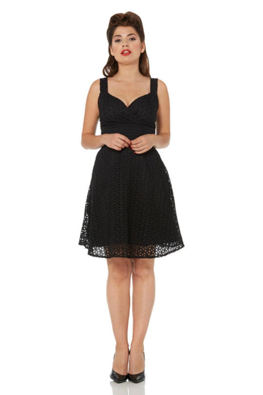 Voodoo Vixen Billie Blush Black Dress