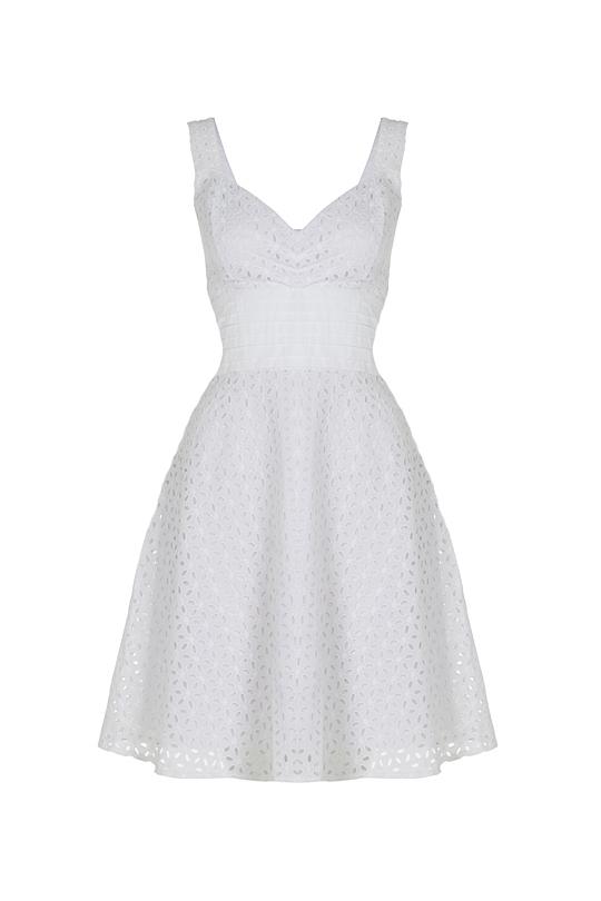 Voodoo Vixen Billie Blush White Flare Dress