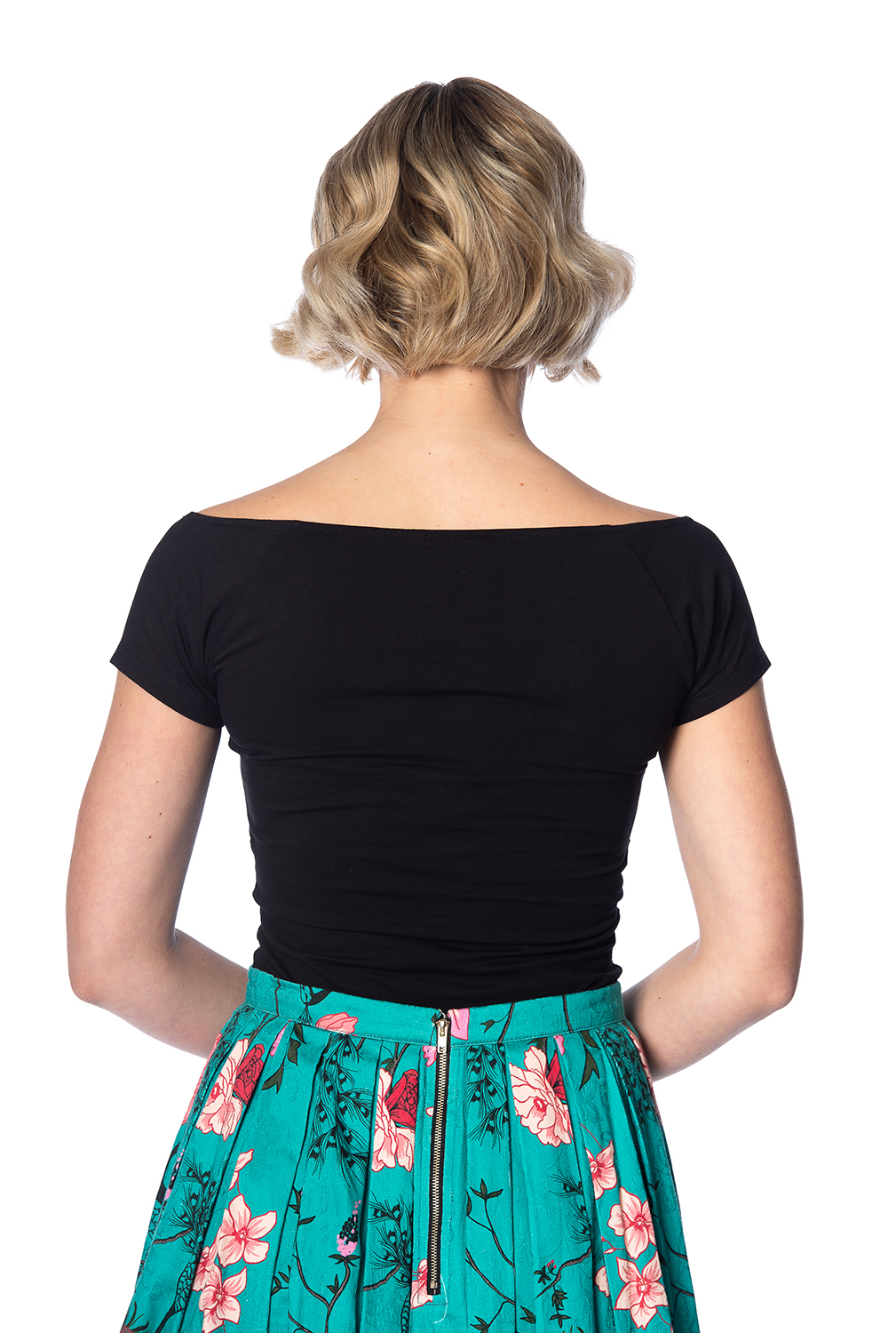 Banned Retro 50s Bow Wow Top In Black