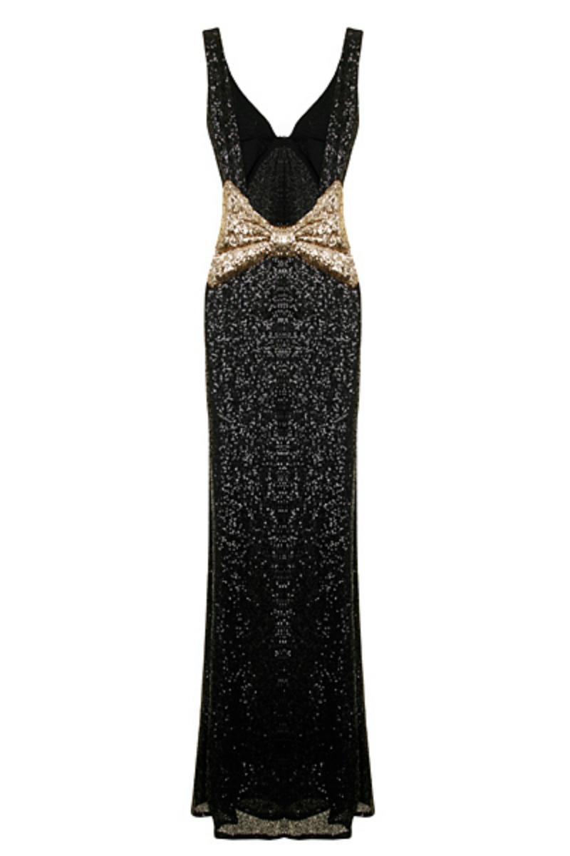 Nazz Black Sequin Marilyn Mermaid Dress