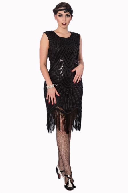 Black Gatsby Sequin Dress