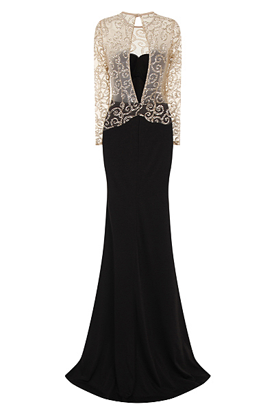 Black Backless Maxi Mermaid Sparkle Prom Dress