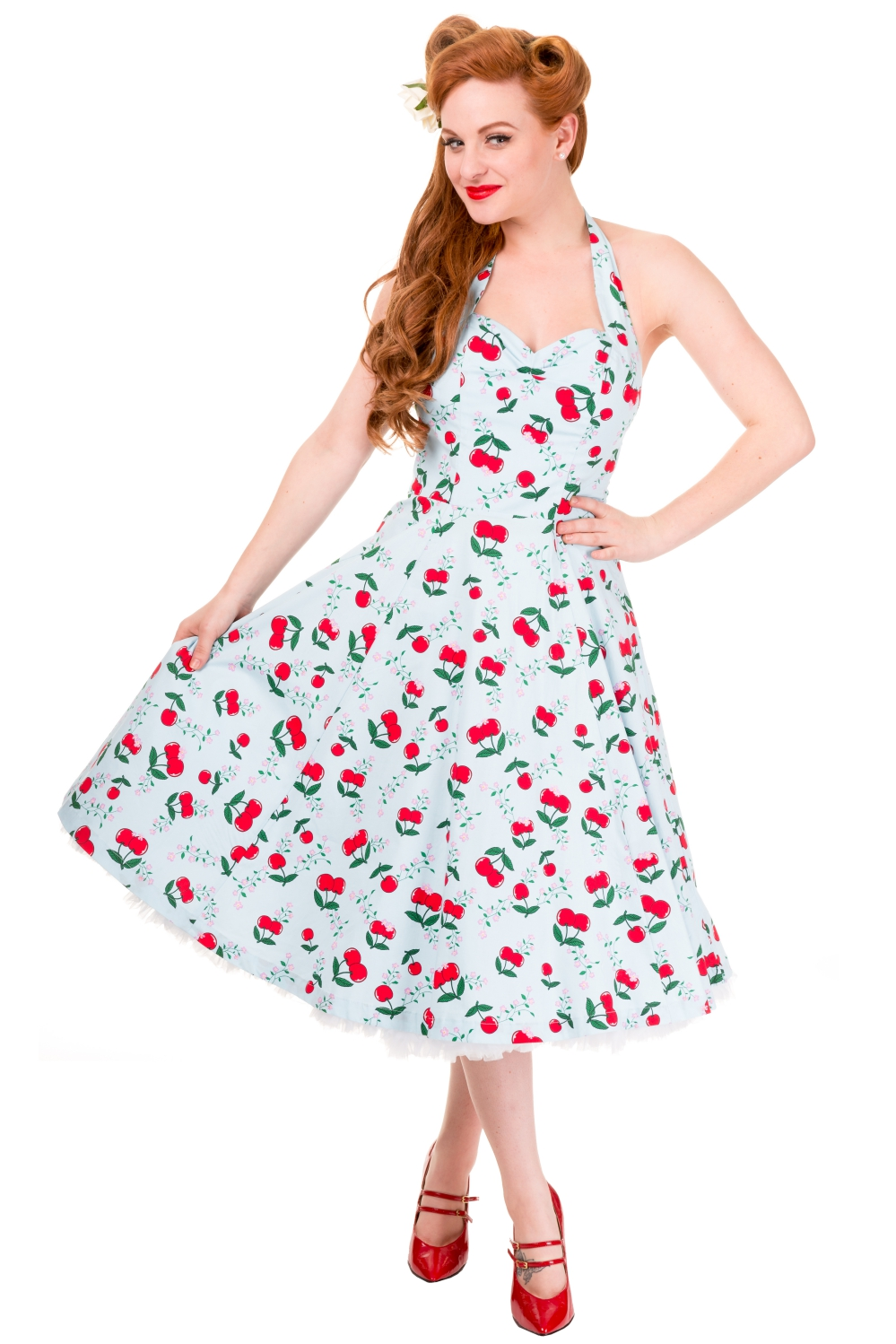 Vintage Blind Side Banned Cherry Dress