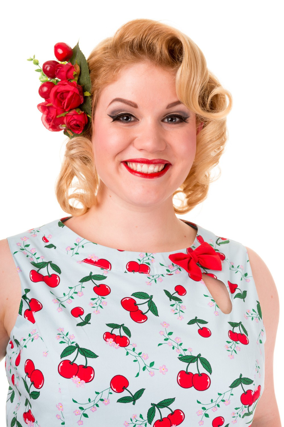 Banned Blindside 1950s Rockabilly Cherry Dress