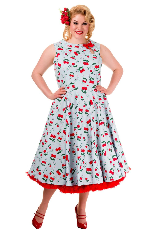 Banned Blindside 1950s Rockabilly Cherry Dress