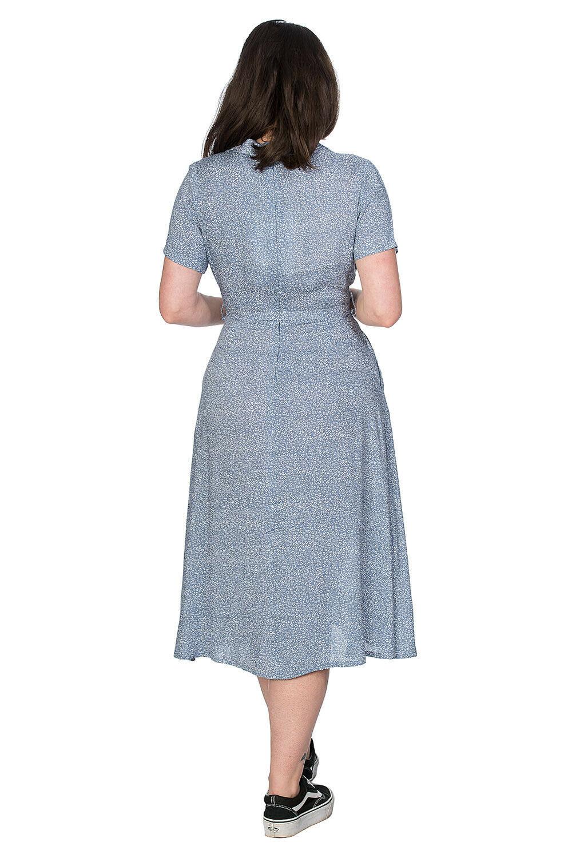 Banned Retro Blue Ditzy Dress