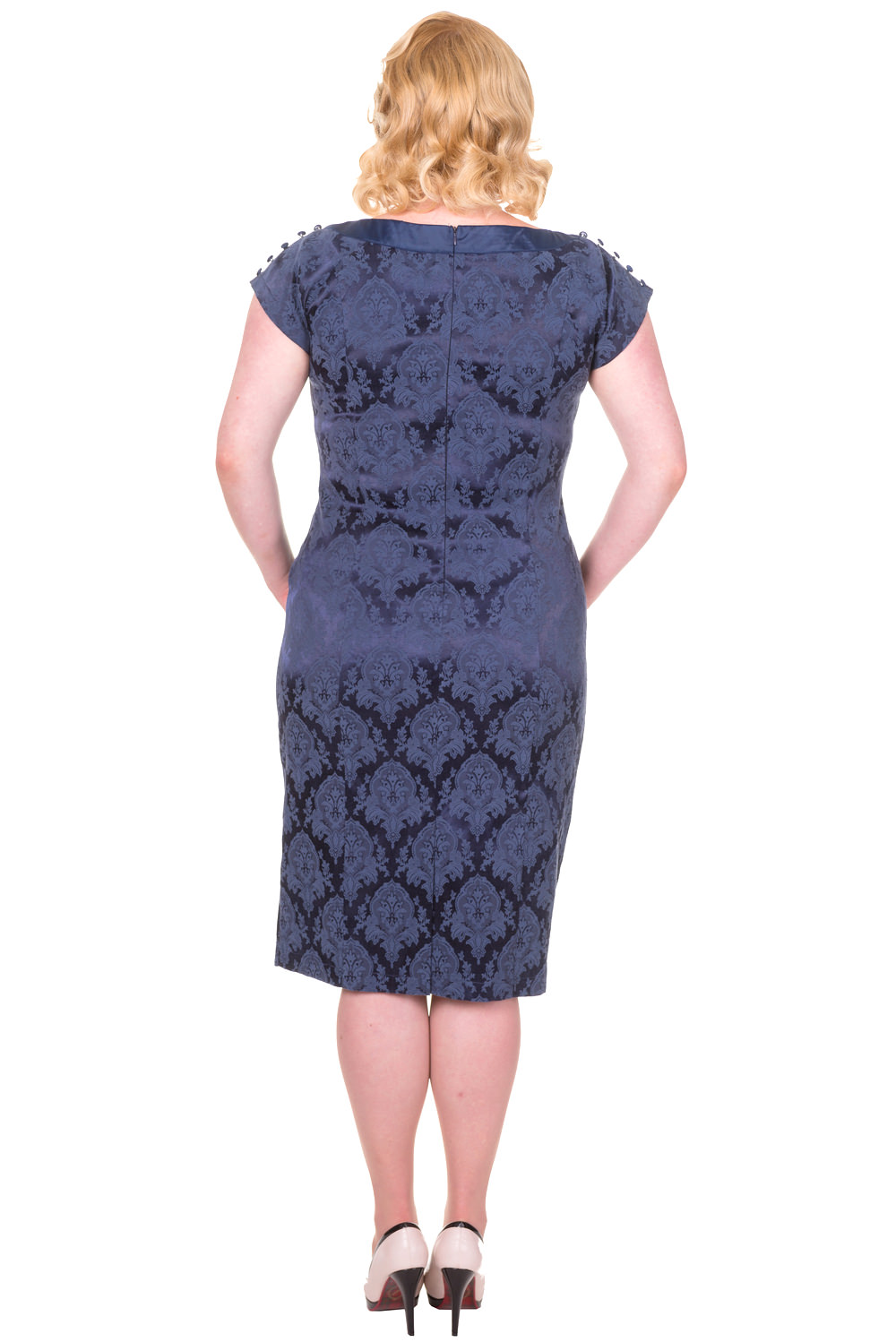 Banned Blue Limitless Plus Size Dress Back