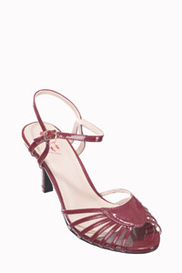 Dancing Days Amelia 1940s Bordeaux Sandals