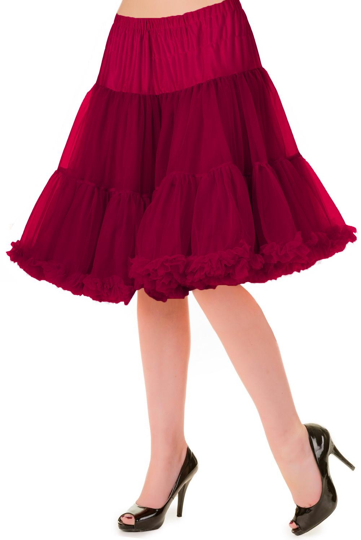 Banned Retro 50s Walkabout Bordeaux Petticoat