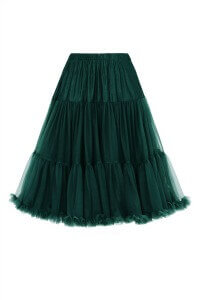 Banned Retro 50s Lizzy Lifeforms Bottle Green Petticoat