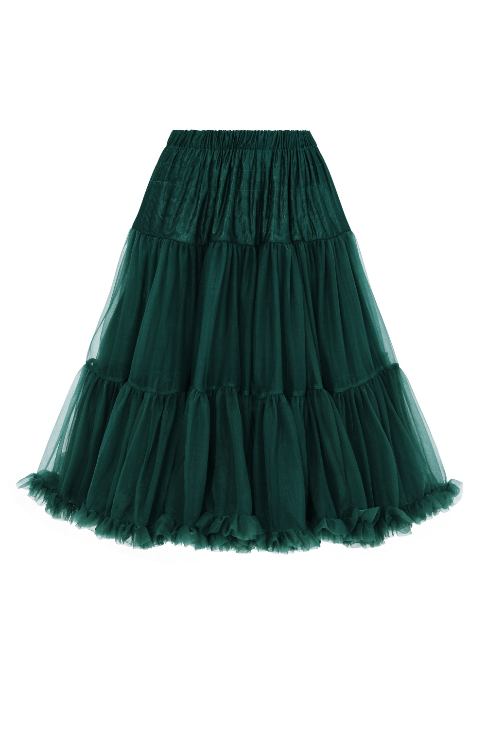 Banned Retro 50s Starlite Bottle Green Petticoat
