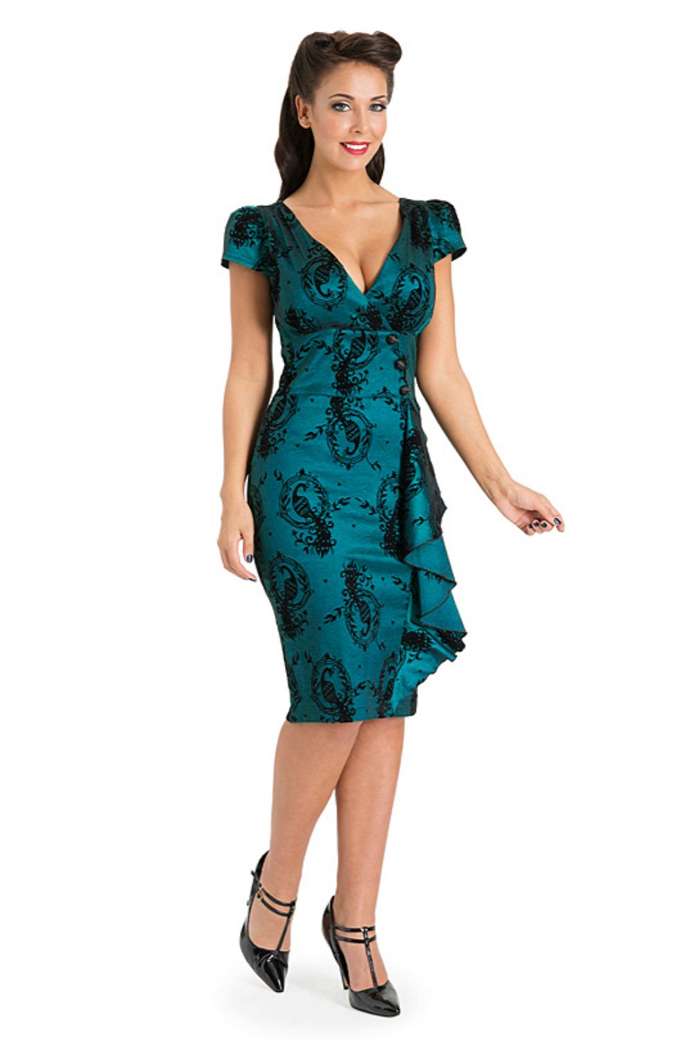 Voodoo Vixen Candy Anne Blue Dress