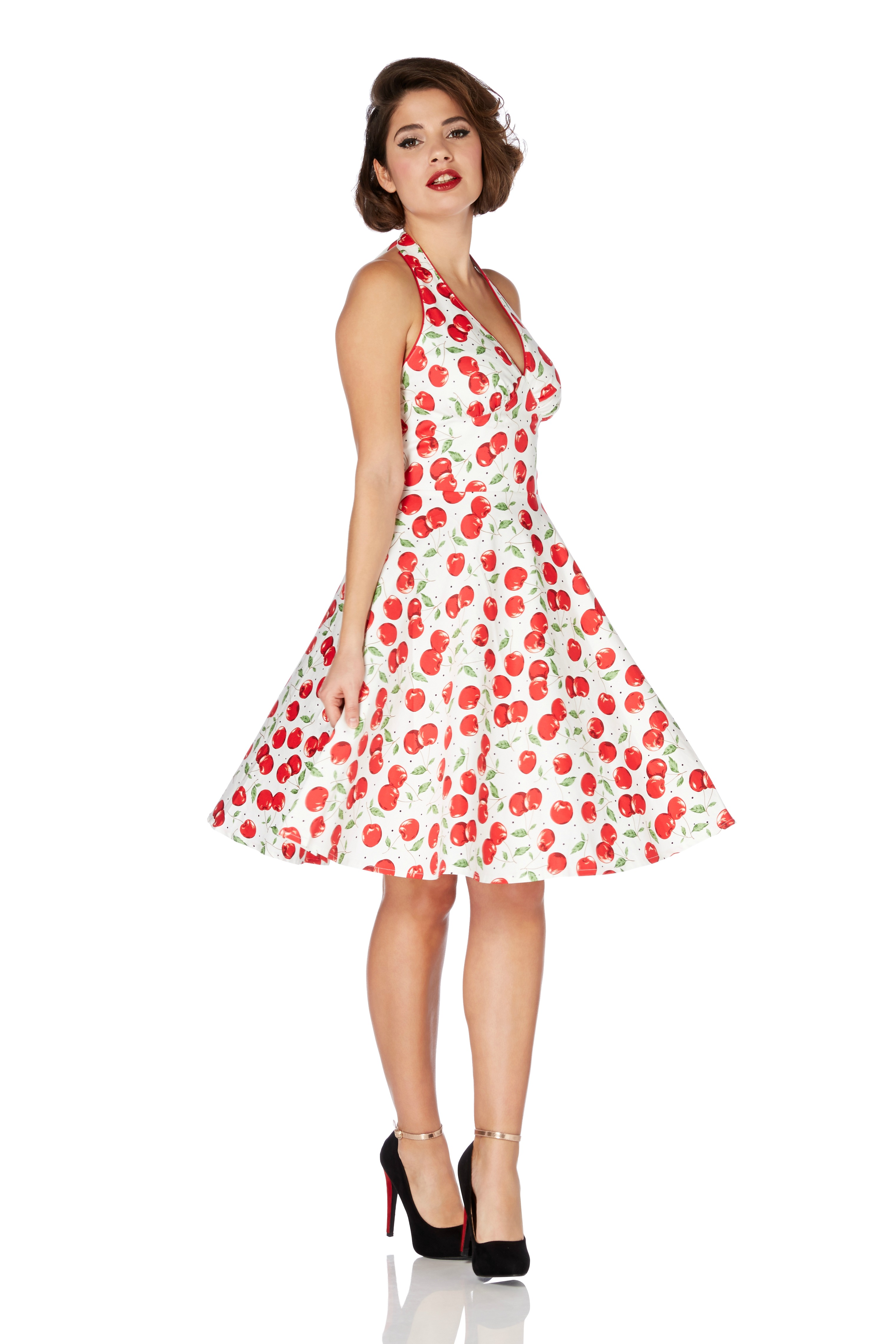 Voodoo Vixen Cherry Heartbreaker Sun Dress