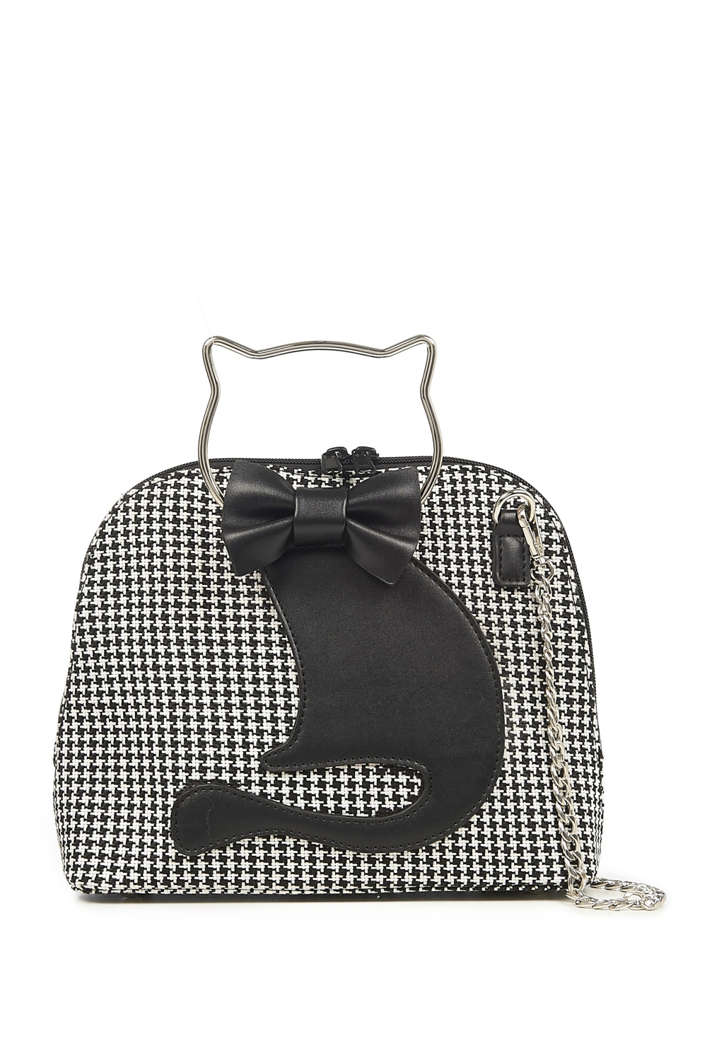 Banned Retro 50s Dixie Houndstooth Cat Bag