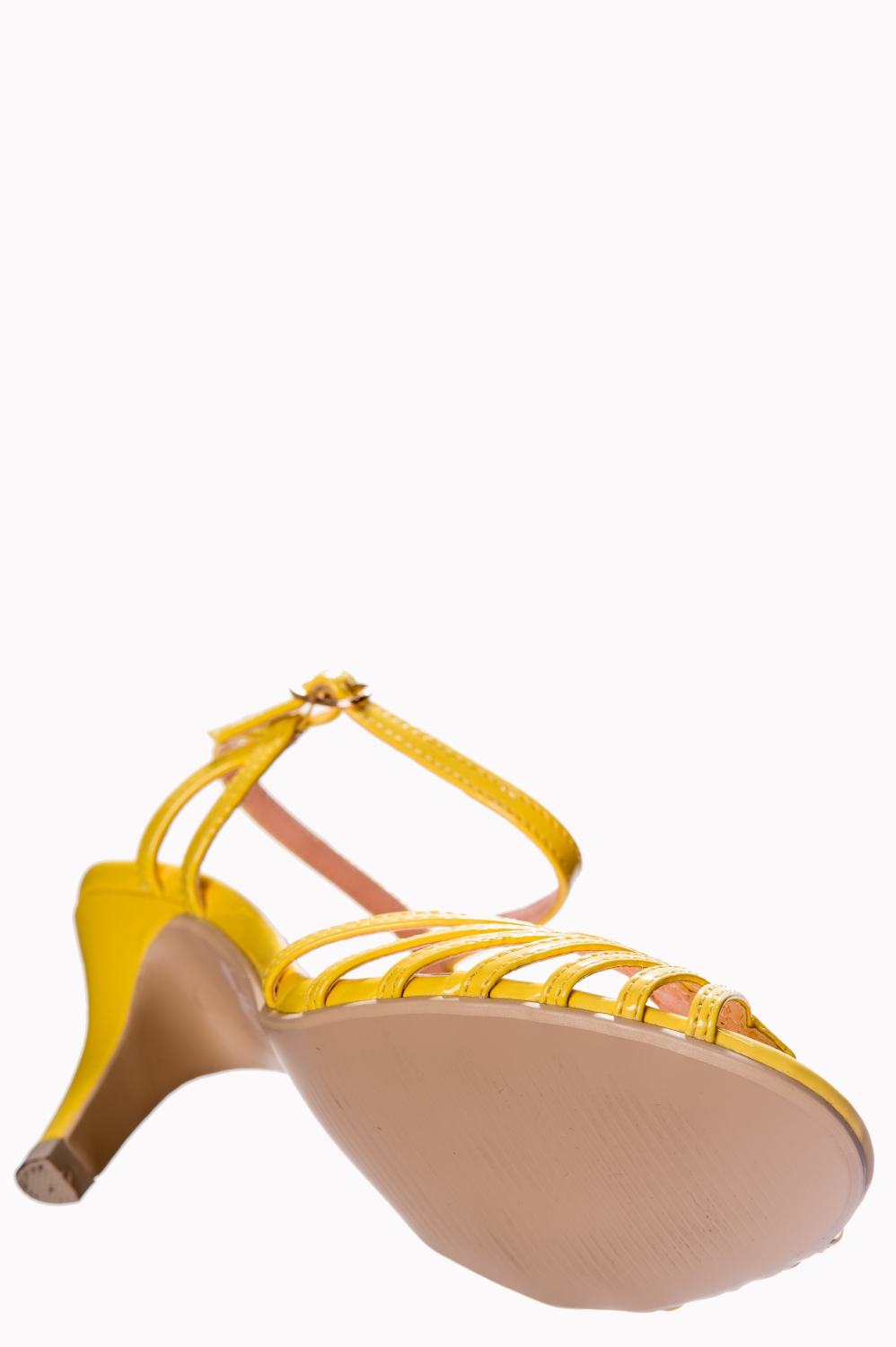 Dancing Days Amelia Yellow 1940s Sandals