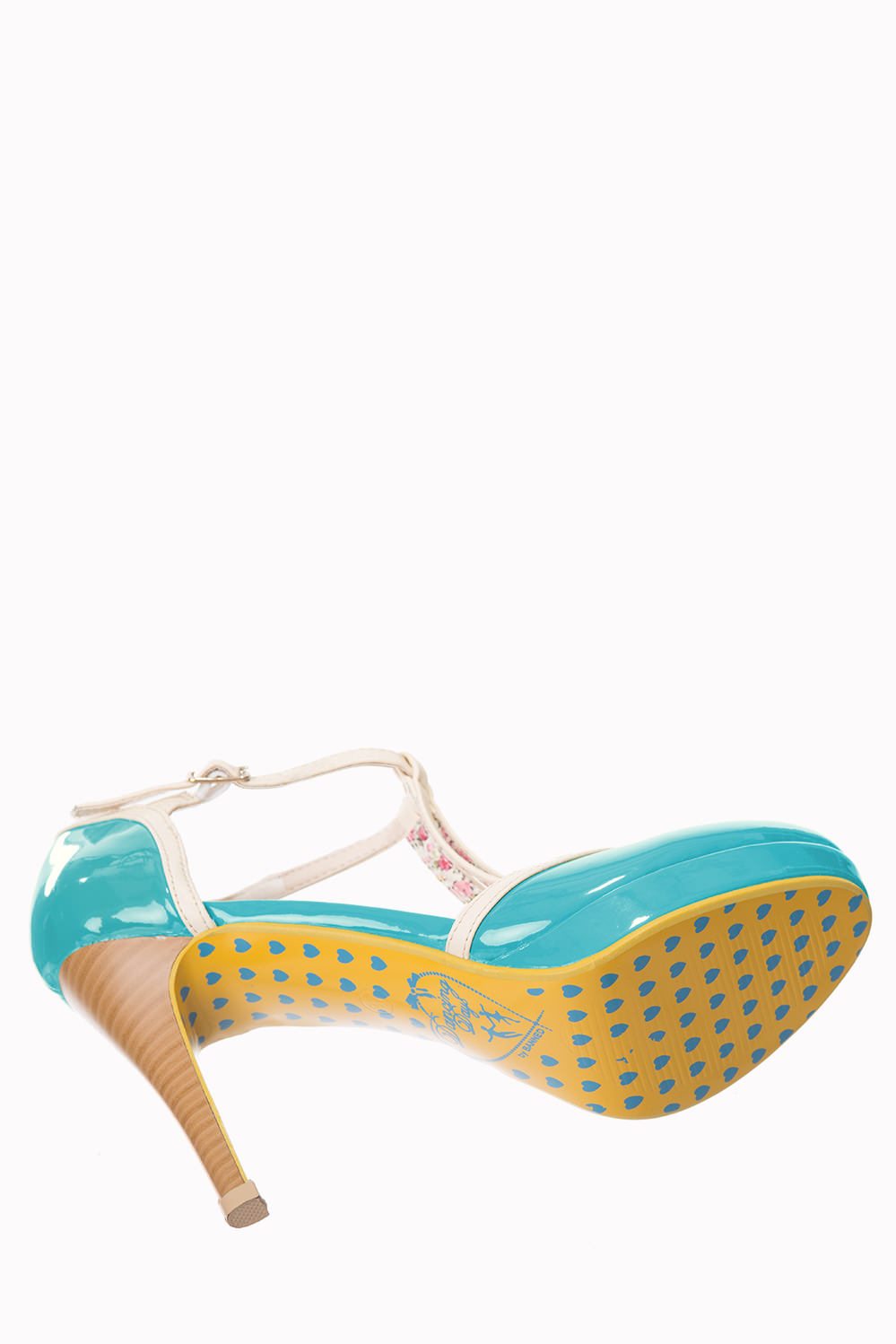 Dancing Days Betty Aqua Cream 50s Shoes