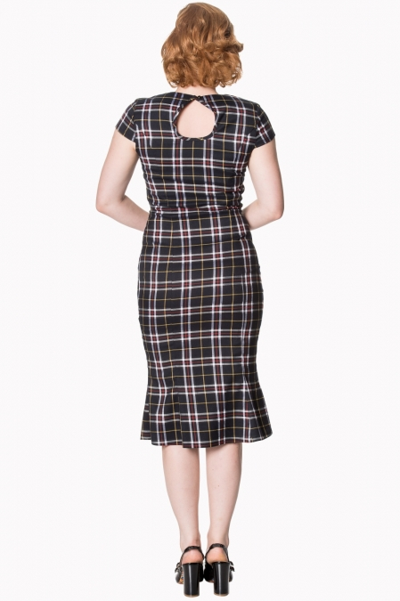 Dancing Days By Banned Poppy Black Tartan Dress