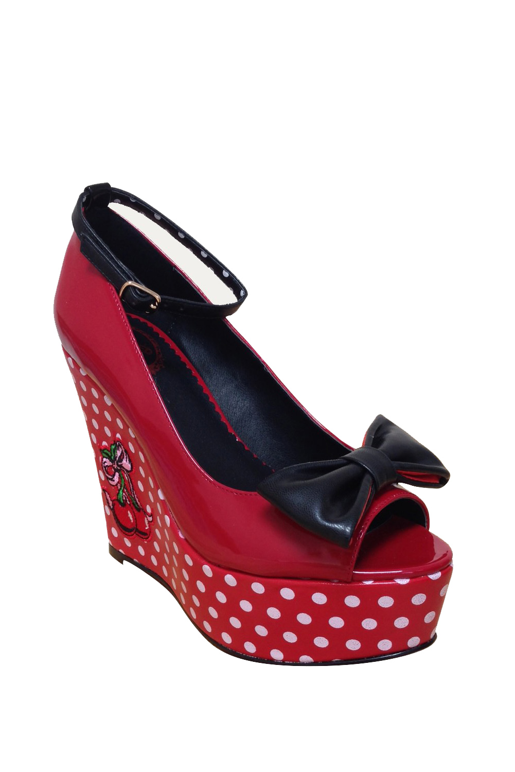 Dancing Days Sophia 50s Platform Cherry Shoes