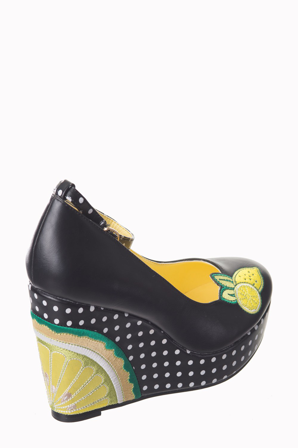 Dancing Days Kora 70s Platform Lime Shoes