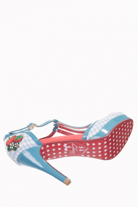 Dancing Days Strawberry 50s Leah Gingham Shoes