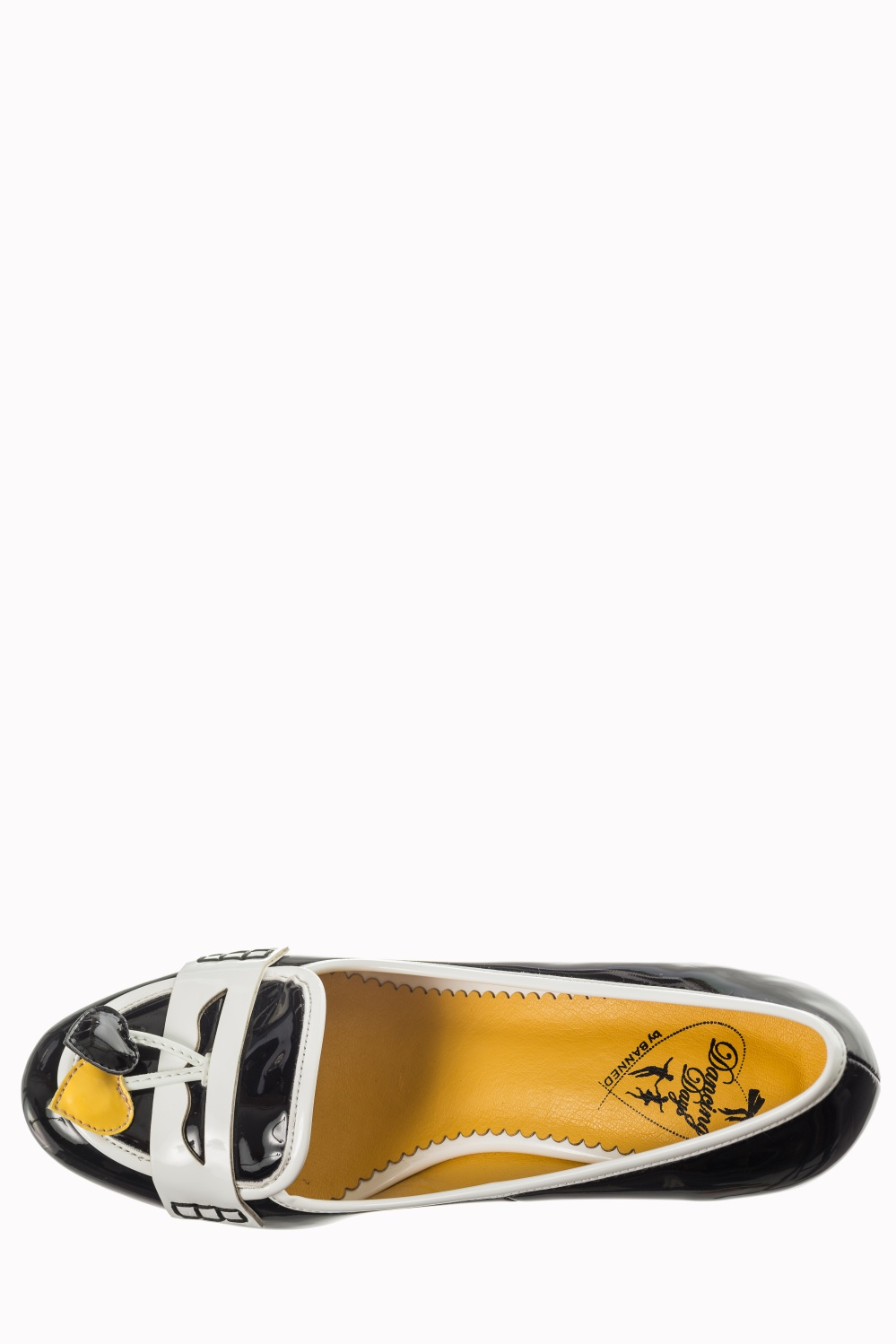 Dancing Days Lust For Life Black Mustard 60s Loafer Shoes