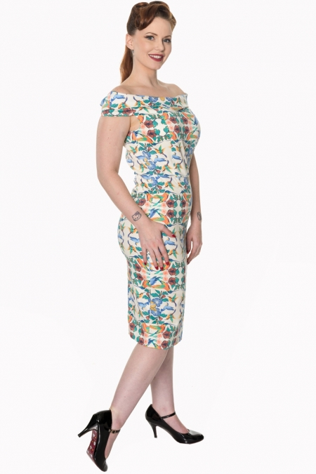 Dancing Days Mandala 50s Wiggle Dress