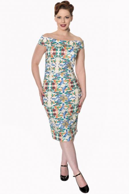 Dancing Days Mandala 50s Wiggle Dress