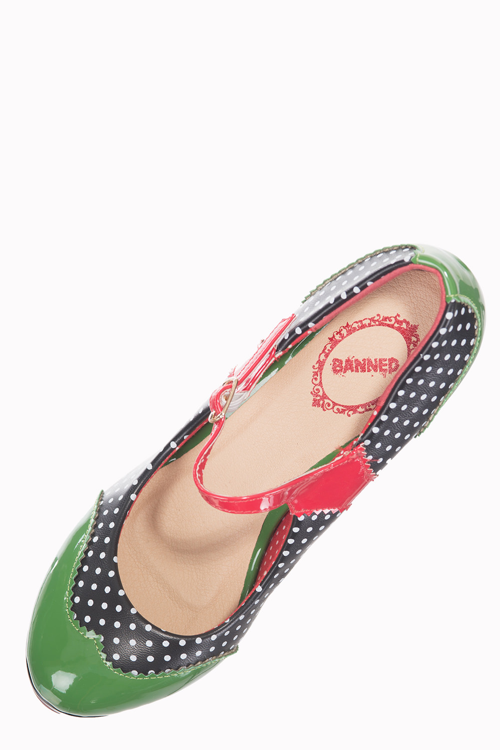 Dancing Days Mary Jane Green Black 50s Shoes