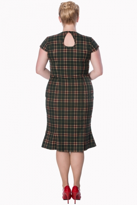 Dancing Days Poppy Green Tartan Dress