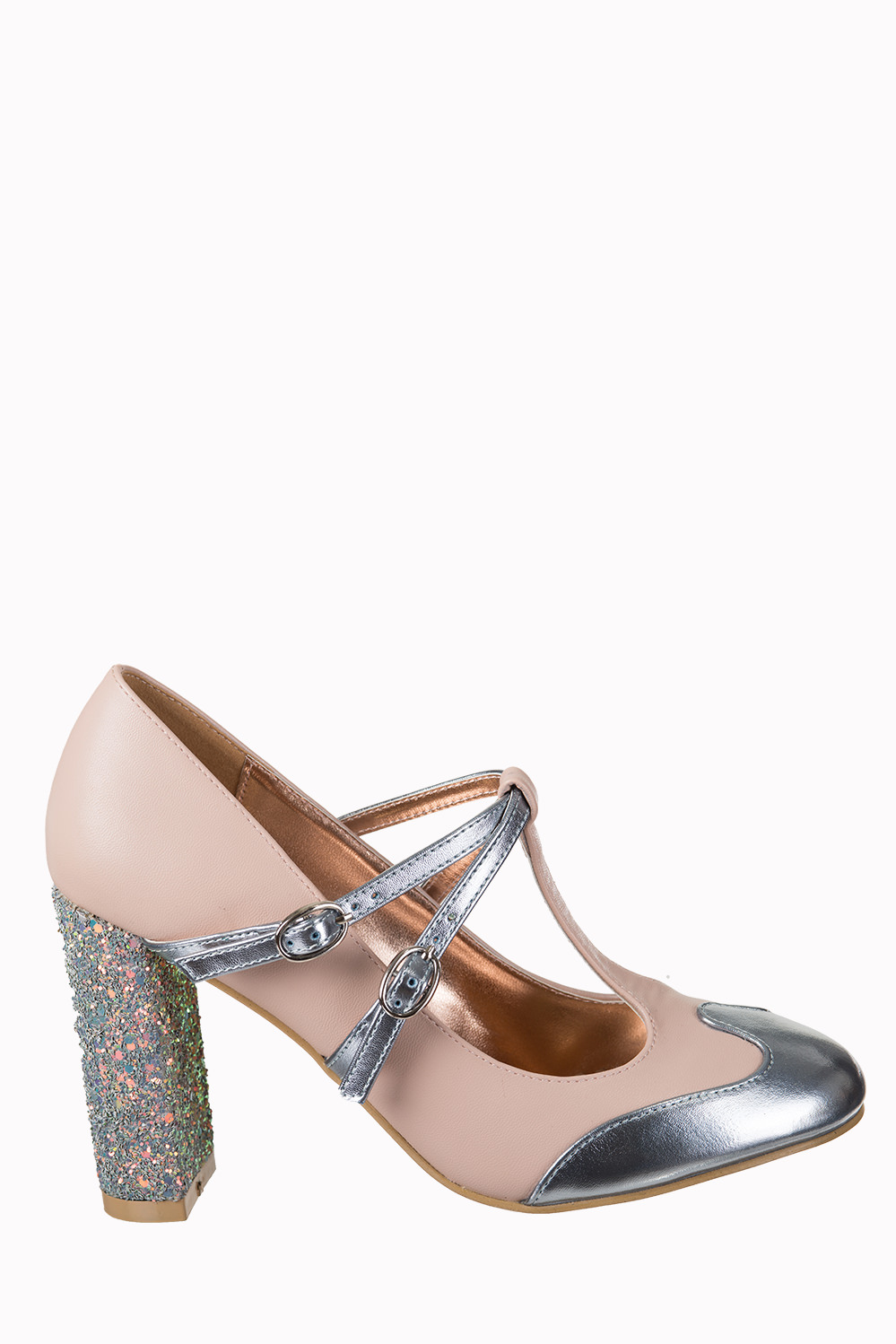 Dancing Days Modern Love 60s Blush Silver Shoes