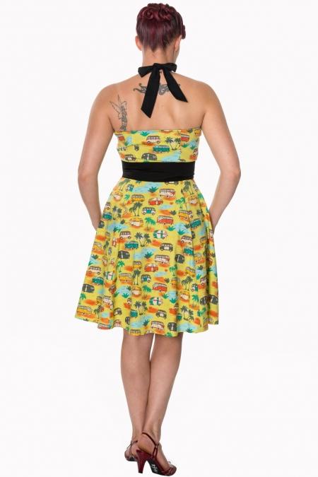 Dancing Days Starlight 50s Campervan Halter Dress