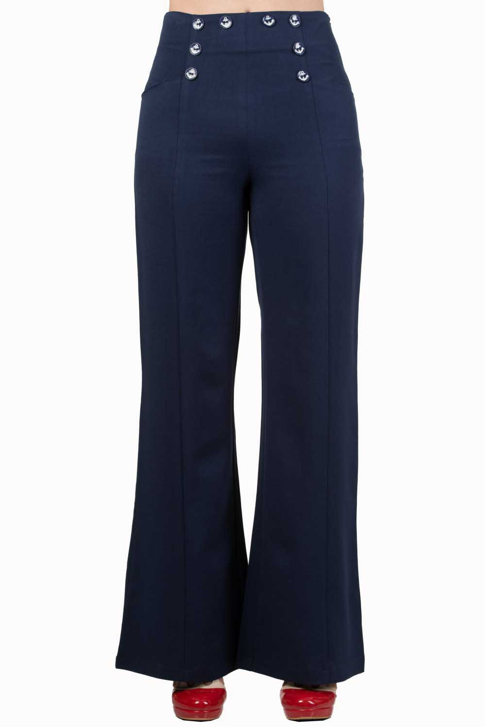 Dancing Days by Banned 40s Stay Awhile Navy Trousers